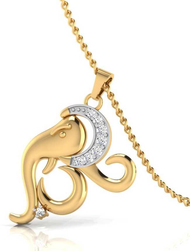 8dde21485a9b2 IskiUski Ganesh Pendant Gold-plated Swarovski Crystal Sterling ...
