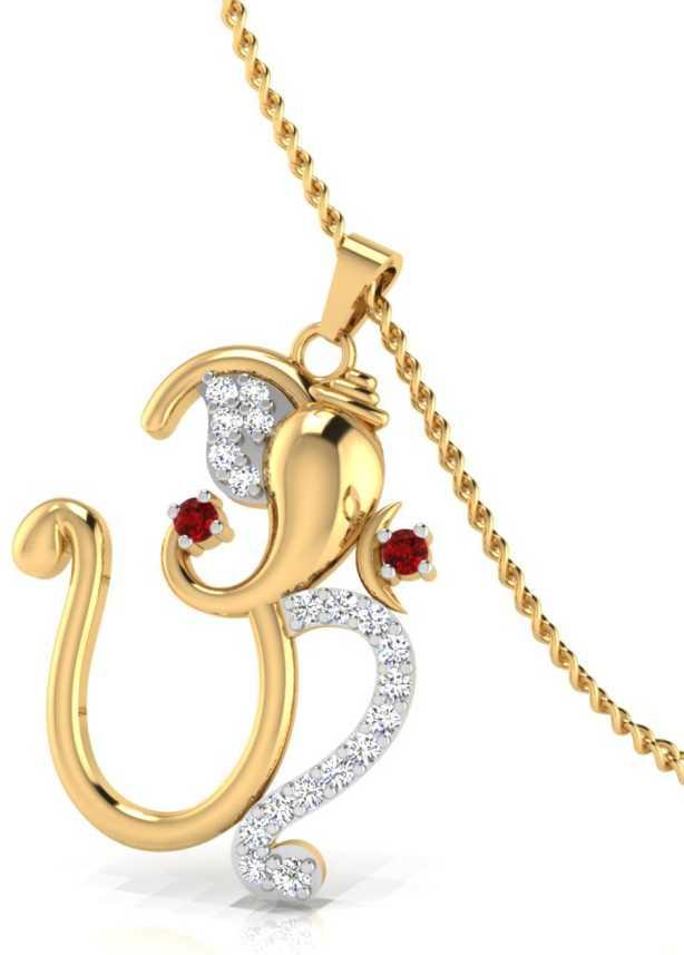29e6749bee5df IskiUski Gaurik Ganesh Pendant Gold-plated Swarovski Crystal ...