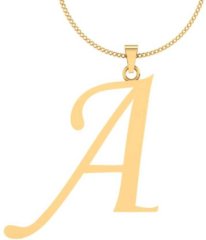 215f40abe946a Iskiuski A Alphabet Gold Pendant 18kt Yellow Locket In