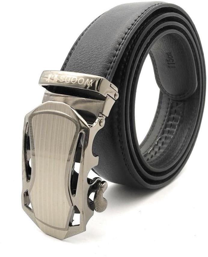 Fashion Men Artificial Leather Waist Belt Automatic Buckle Casual Belt