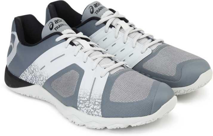 emprender orar doblado  Asics CONVICTION X 2 Training & Gym Shoes For Men - Buy STONE GREY/GLACIER  GREY/FIERY RED Color Asics CONVICTION X 2 Training & Gym Shoes For Men  Online at Best Price -