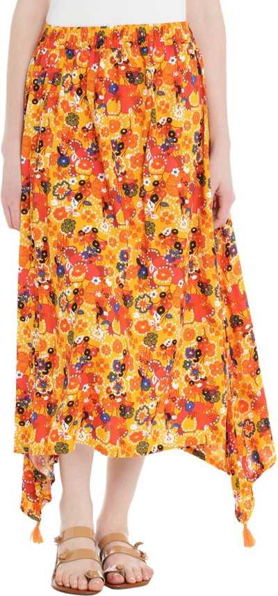 98208517c Akkriti by Pantaloons Floral Print Women Asymetric Yellow Skirt - Buy  Akkriti by Pantaloons Floral Print Women Asymetric Yellow Skirt Online at  Best Prices ...