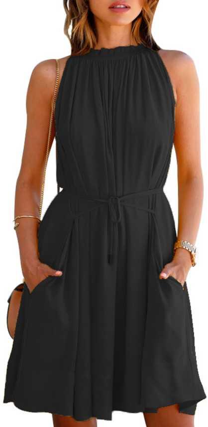 Stylistico Women Fit And Flare Black Dress Buy Stylistico Women