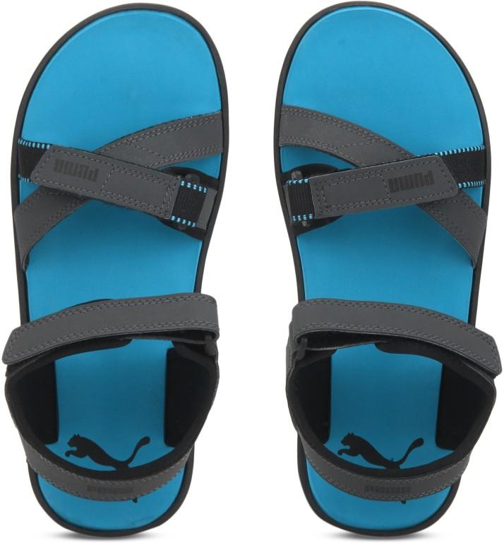 Puma Pebble IDP Men Grey Sandals - Buy