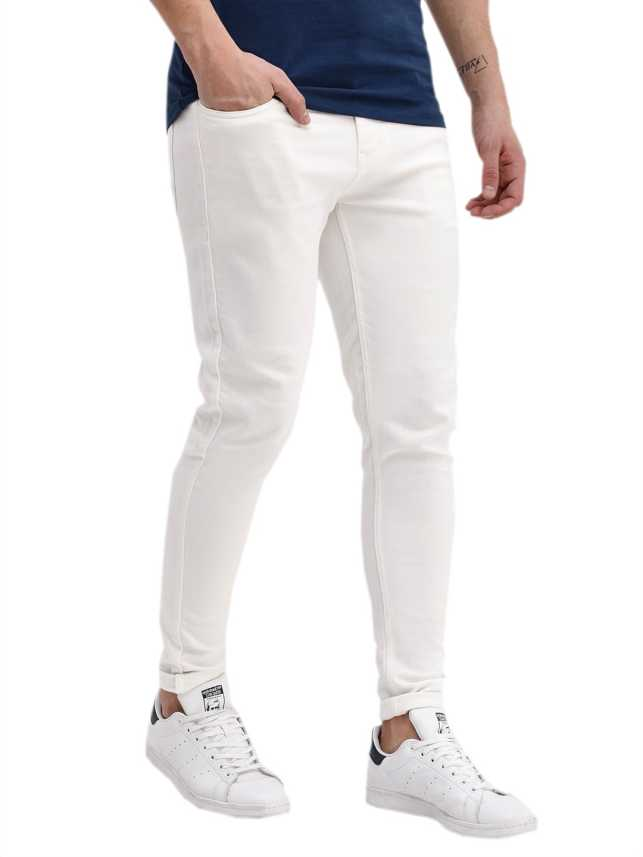 d7fdc3d81e3 Halogen Skinny Men White Jeans - Buy Halogen Skinny Men White Jeans Online  at Best Prices in India
