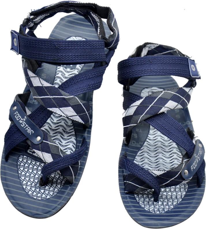 FOOTSTAIR Men Blue Sandals - Buy