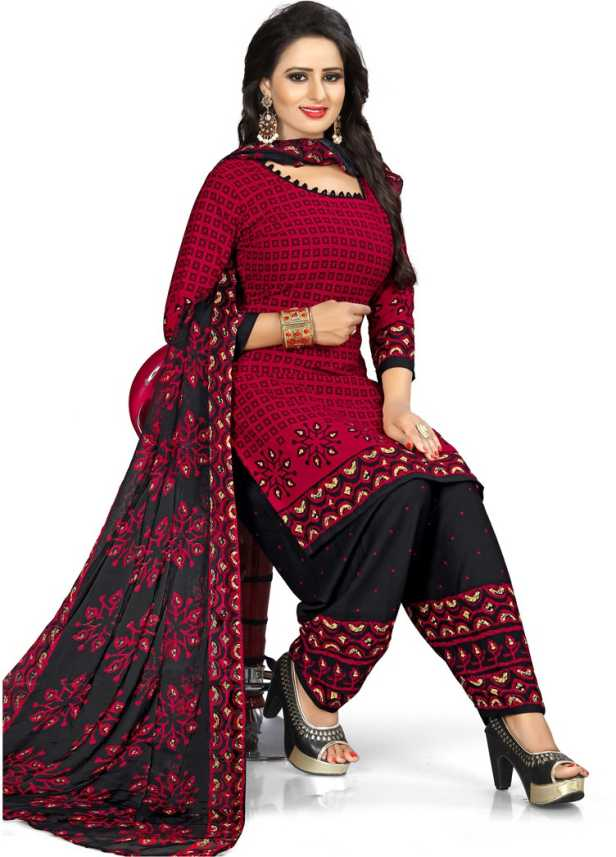 564fe7b4dd3 Saara Poly Crepe Printed Salwar Suit Material Price in India - Buy Saara  Poly Crepe Printed Salwar Suit Material online at Flipkart.com