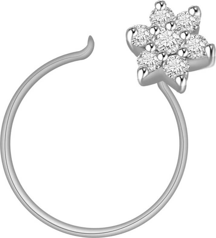 Vijisan Designer Nose Pin Flower Tar Collection 10kt Diamond White