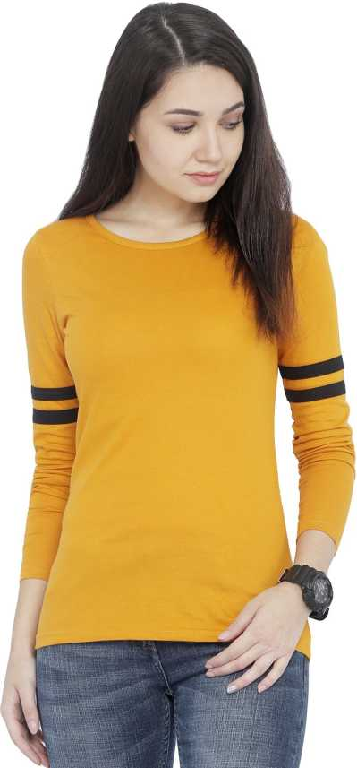 45fe346b Rodid Solid Women's Round Neck Yellow T-Shirt - Buy Rodid Solid Women's  Round Neck Yellow T-Shirt Online at Best Prices in India | Flipkart.com