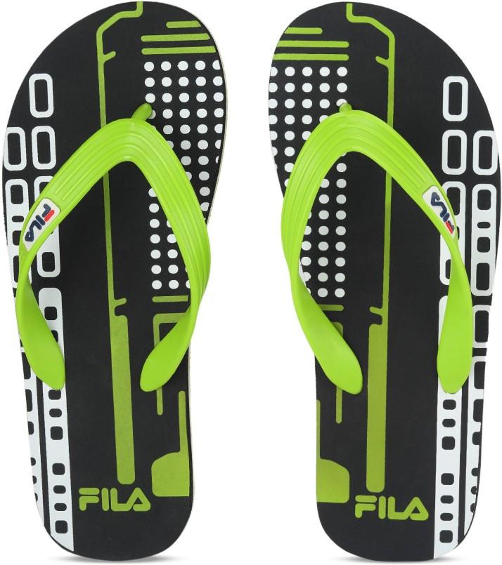 Fila CHECK Slippers - Buy BLK/LIM Color