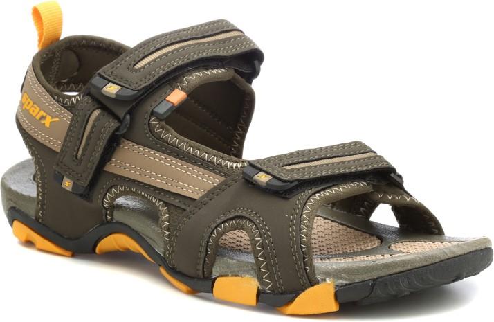 Sparx Men Olive Sports Sandals - Buy