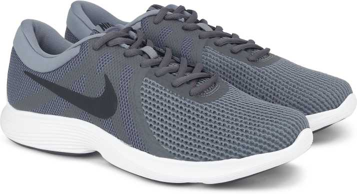 buy online 18856 a976c Nike NIKE REVOLUTION 4 Running Shoes For Men (Grey)