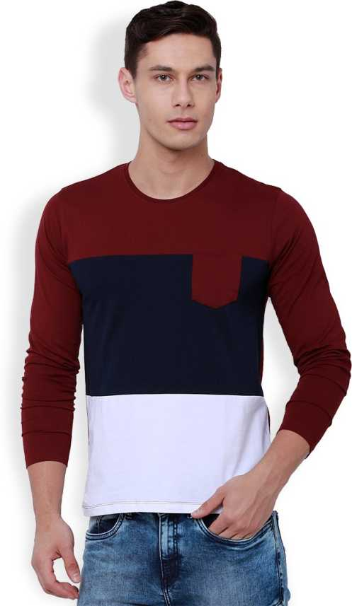 a277d91a4d3d3 Highlander Solid Men s Round Neck Maroon T-Shirt - Buy MAROON Highlander  Solid Men s Round Neck Maroon T-Shirt Online at Best Prices in India