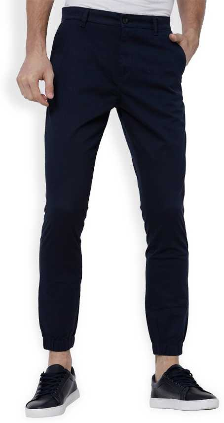 821bfe40e6c Highlander Slim Fit Men Dark Blue Trousers - Buy NAVY BLUE Highlander Slim  Fit Men Dark Blue Trousers Online at Best Prices in India