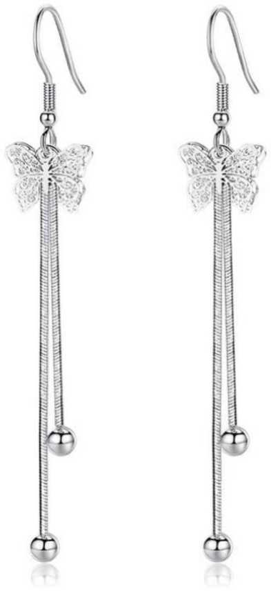 6efc8b53e Flipkart.com - Buy MYKI Ravishing Long Butterfly Hanging Earring For Women  & Girls Swarovski Zirconia Sterling Silver Drops & Danglers Online at Best  Prices ...
