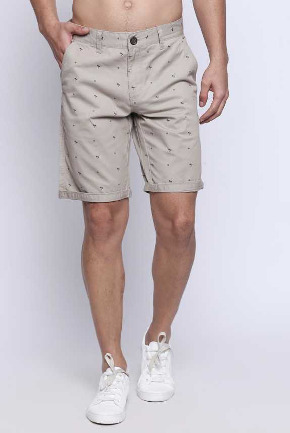 ecd8fc3bb5f Buffalo by FBB Printed Men Beige Chino Shorts - Buy Buffalo by FBB Printed  Men Beige Chino Shorts Online at Best Prices in India