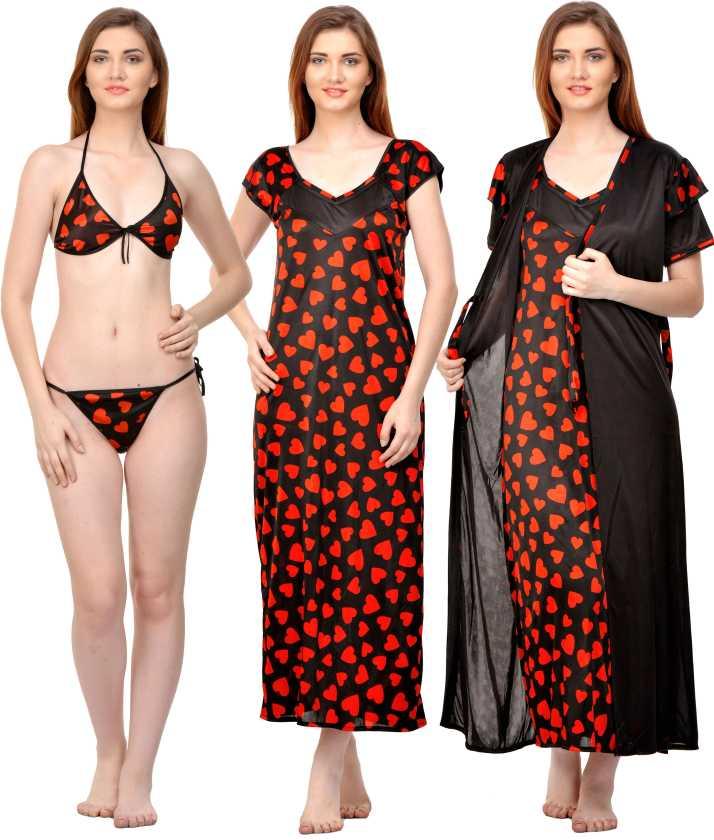 ec5ee3d435 Rowena Women Nighty Set - Buy Rowena Women Nighty Set Online at Best ...