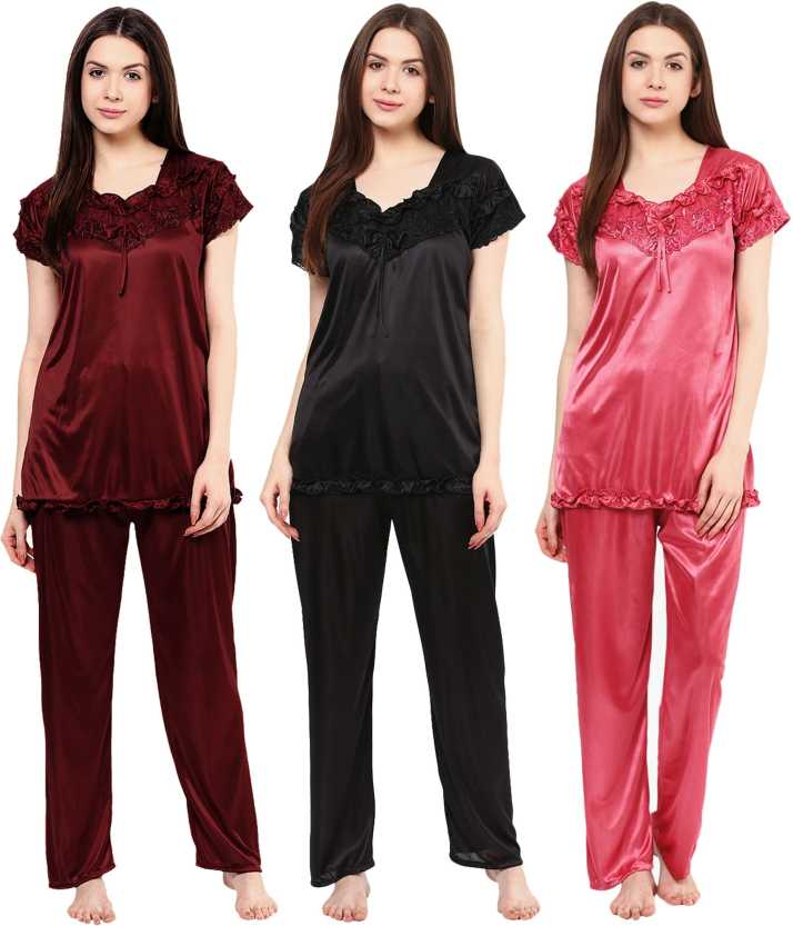 5aff65e282e Boosah Women Solid Multicolor Top   Pyjama Set Price in India - Buy Boosah  Women Solid Multicolor Top   Pyjama Set at Flipkart.com Top   Pyjama Set