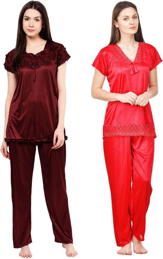 d4ad981ae8 Phalin Women Solid Multicolor Top   Pyjama Set Price in India - Buy Phalin  Women Solid Multicolor Top   Pyjama Set at Flipkart.com Top   Pyjama Set