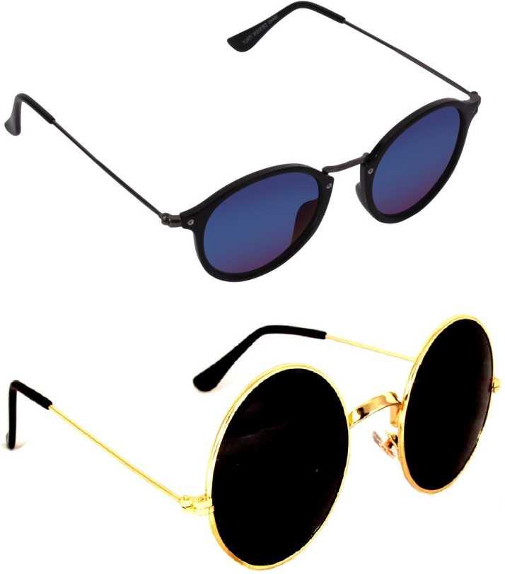 2f21ae880 Buy Criba Round, Oval Sunglasses Black, Multicolor For Boys & Girls ...