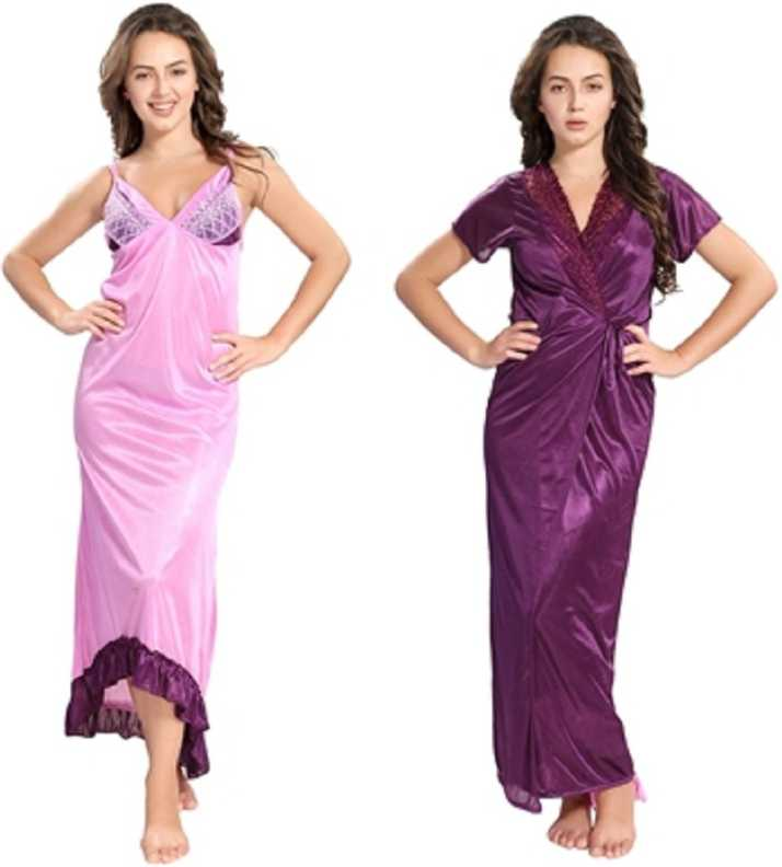 836ab614c Reposey Women Nighty with Robe - Buy Reposey Women Nighty with Robe ...