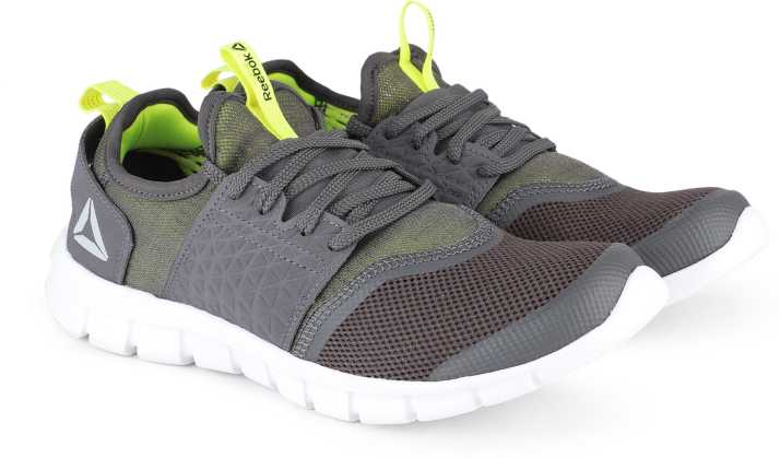 fb1d8c0bfcf501 REEBOK HURTLE RUNNER Running Shoes For Men - Buy GREY NEON YELLOW ...
