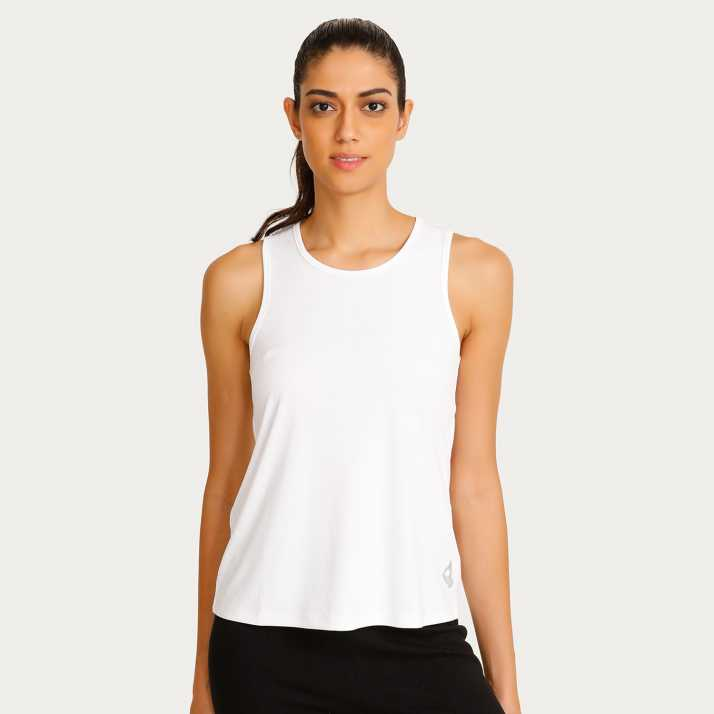 49dbb2a3ab4 Zelocity By Zivame Casual Sleeveless Solid Women s White Top - Buy Zelocity  By Zivame Casual Sleeveless Solid Women s White Top Online at Best Prices  in ...