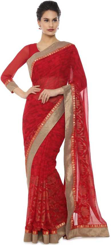 b9f901aad6 Buy Soch Printed Fashion Pure Georgette Red Sarees Online @ Best ...