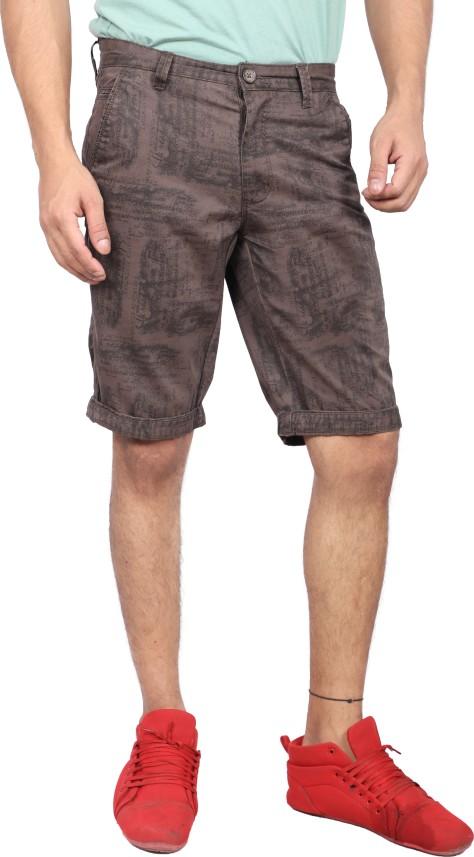 FBB Printed Men Brown Bermuda Shorts