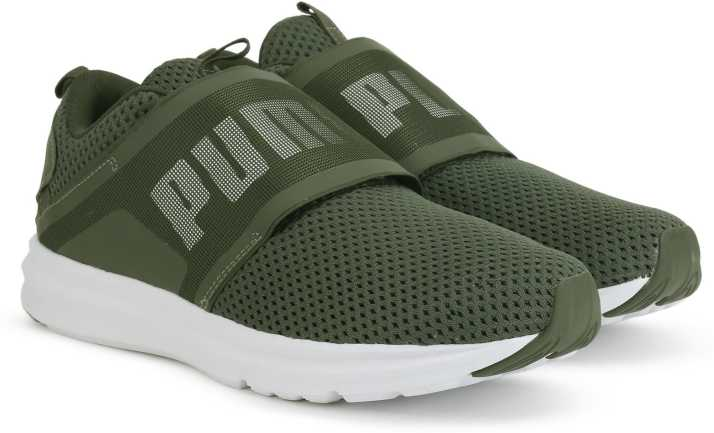 Viaje Íncubo Transporte  Puma Enzo Strap Mesh Running Shoes For Men - Buy Forest Night-Puma White  Color Puma Enzo Strap Mesh Running Shoes For Men Online at Best Price -  Shop Online for Footwears in