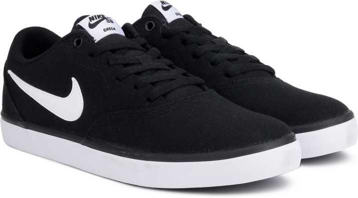 san francisco a4cc0 3422b Nike SB CHECK SOLAR CNVS SS 19 Sneakers For Men (Black, White)