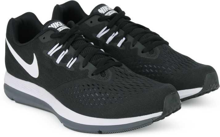 18cd15467e6c Nike ZOOM WINFLO 4 Running Shoes For Men - Buy BLACK WHITE-DARK GREY ...