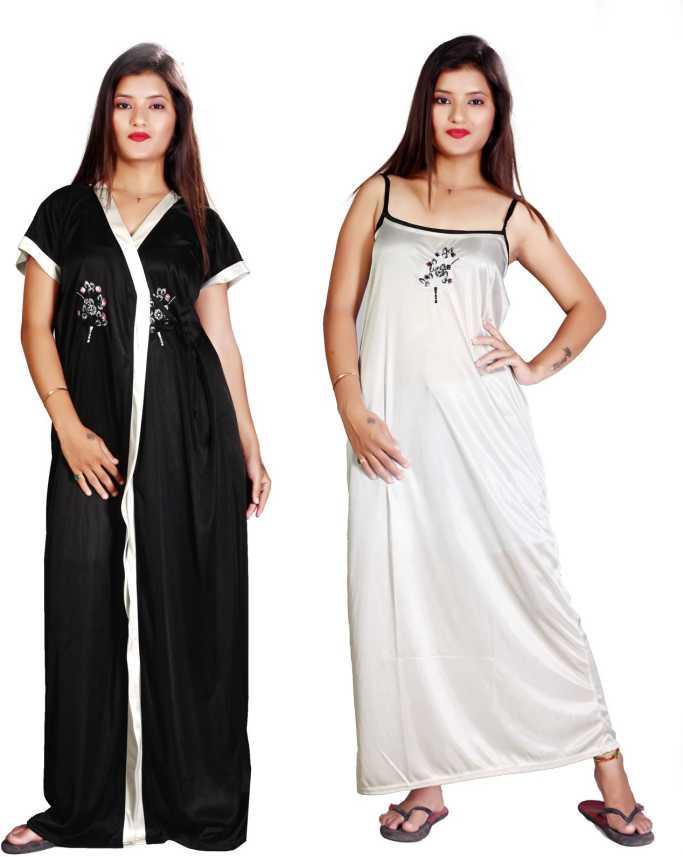 0ea22314a6 TRUNDZ Women Nighty with Robe - Buy TRUNDZ Women Nighty with Robe ...