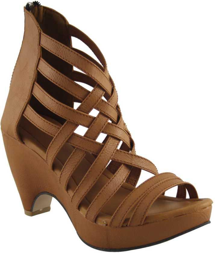 48678b1c0de0 Cute Fashion Women Dark Beige Heels - Buy Beige Color Cute Fashion Women  Dark Beige Heels Online at Best Price - Shop Online for Footwears in India  ...