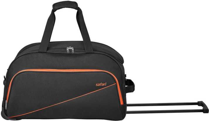 Safari 20 inch 53 cm PEP 53 RDFL BLACK DUFFEL TROLLEY BAG Duffel Strolley  Bag BLACK - Price in India  3012c625ea9e2