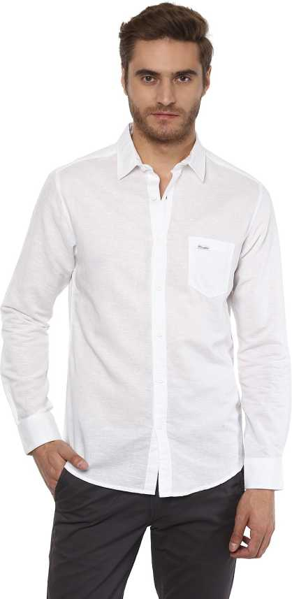 b072c61692 Mufti Men's Solid Casual White Shirt - Buy Mufti Men's Solid Casual White  Shirt Online at Best Prices in India | Flipkart.com