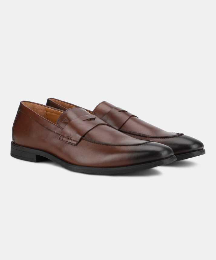 c1a3bd3a54a Van Heusen Slip-On For Men - Buy BROWN Color Van Heusen Slip-On For ...
