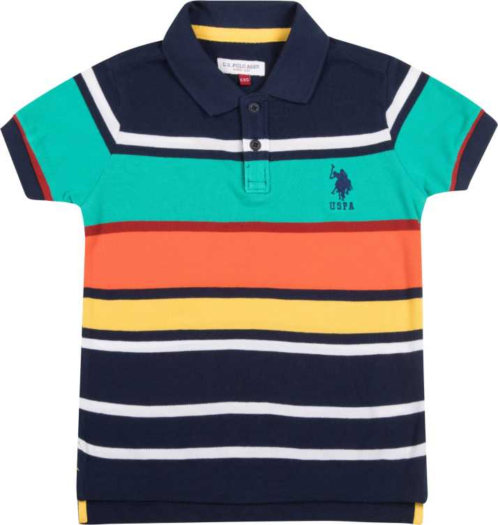 c4ac7bff3c U.S. Polo Assn Boys Striped Cotton T Shirt Price in India - Buy U.S. ...