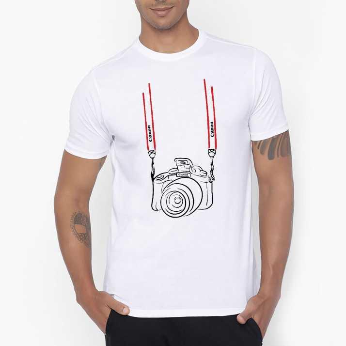 286ab647 Moochsingh Graphic Print Men's Round Neck White T-Shirt - Buy ...