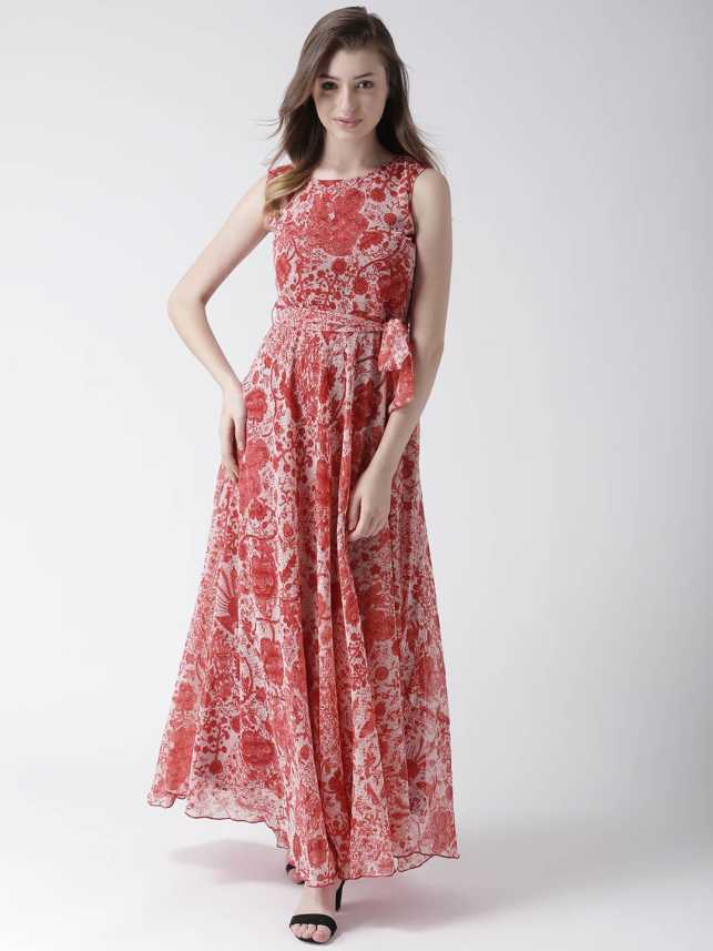 d5501203b MsFQ Women Maxi Red Dress - Buy MsFQ Women Maxi Red Dress Online at Best  Prices in India