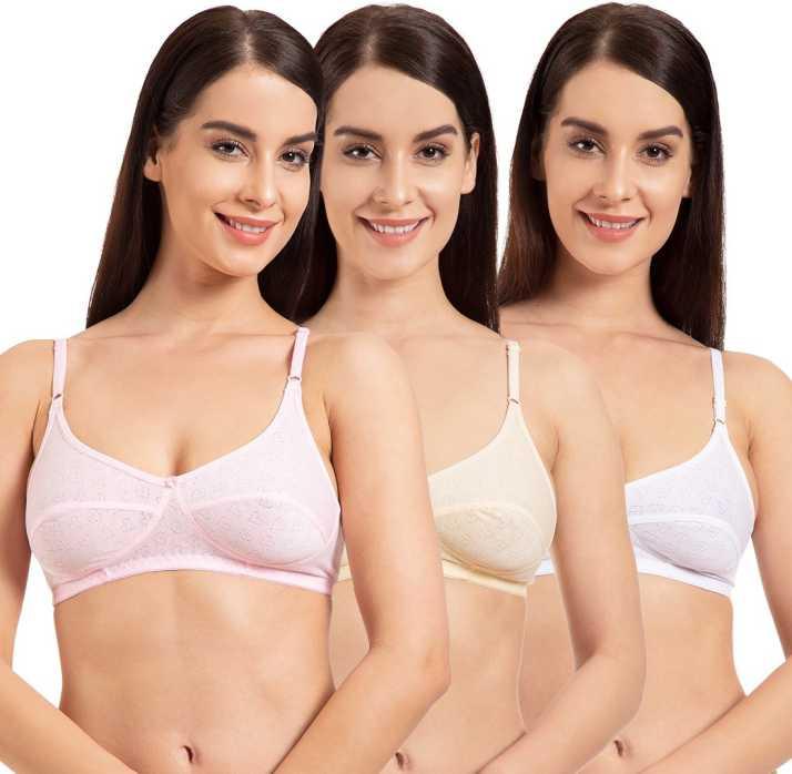 2ea96f0fef0 Komli Belle Lingeries Women T-Shirt Non Padded Bra (Pink