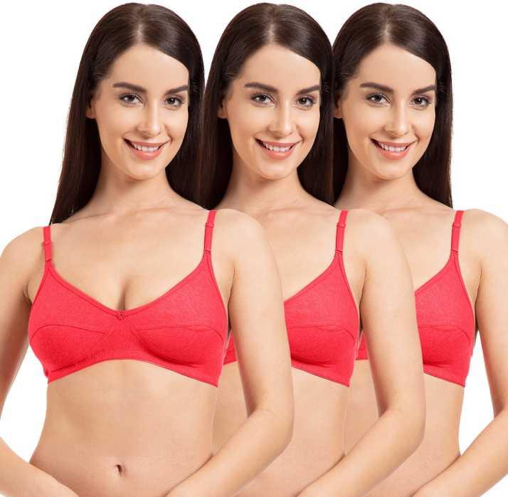 4c0567b635f Komli Belle Lingeries Women T-Shirt Non Padded Bra (Red)