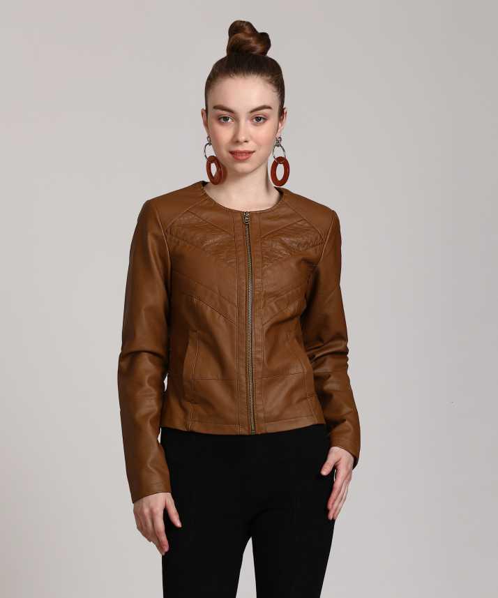 0f63e07620d55 Vero Moda Full Sleeve Solid Women's Jacket - Buy Brown Vero Moda Full  Sleeve Solid Women's Jacket Online at Best Prices in India | Flipkart.com