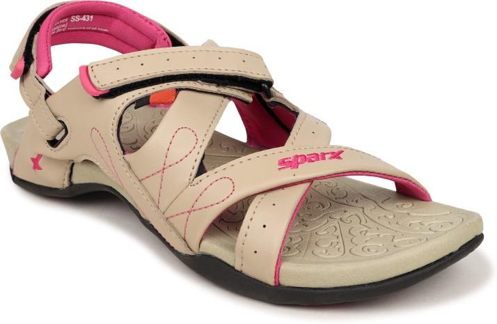 SS-431 Beige Pink Floater Sandals Women