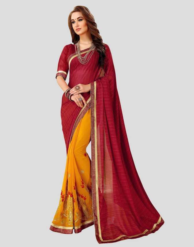 d3aa09539651a0 Buy Viva N Diva Embroidered Bollywood Georgette Maroon