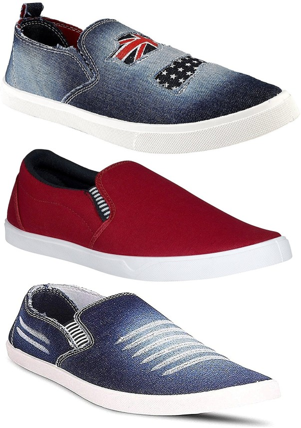 Chevit Combo Pack of 3 Casual Shoes
