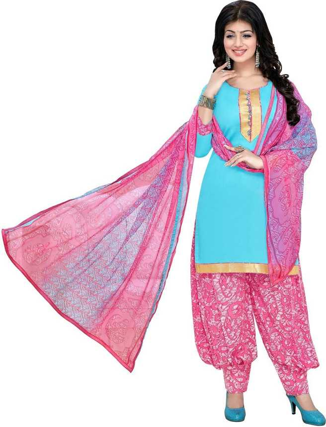 3f80073317 Giftsnfriends FabTag - Giftsnfriends Cotton Blend Printed Salwar Suit  Material (Unstitched)