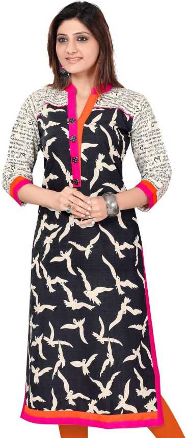 c5ab920e89 FabTag - ALC Creations Casual Animal Print Women s Kurti - Buy Beige ...