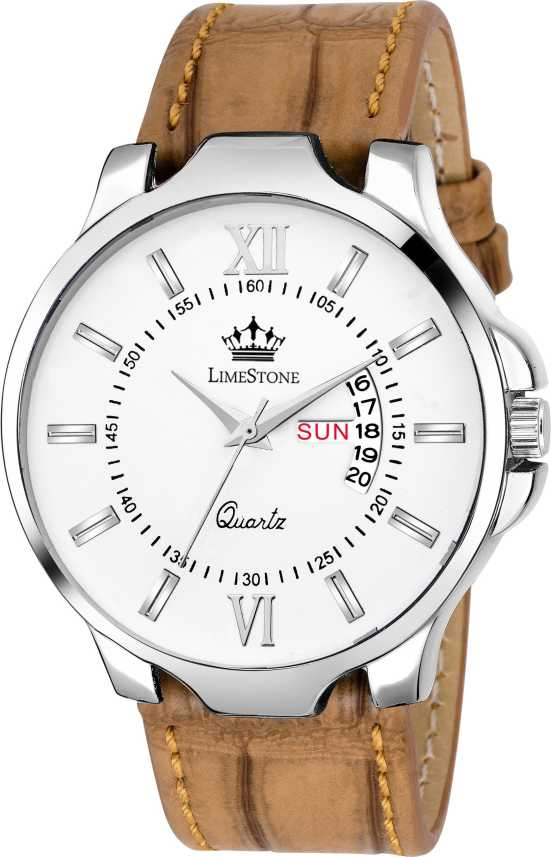 LimeStone LS2727 Avatar Day and Date Functioning Crocodile Strap Analog  Analog Watch - For Men