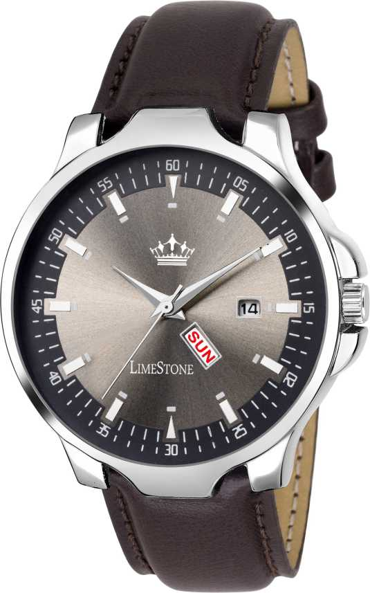 LimeStone LS2729 WIne Grey Avatar Day and Date Functioning Analog Analog  Watch - For Men